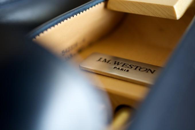[J.M.WESTON 180 Signature Loafer Bleu BoxCalf]
