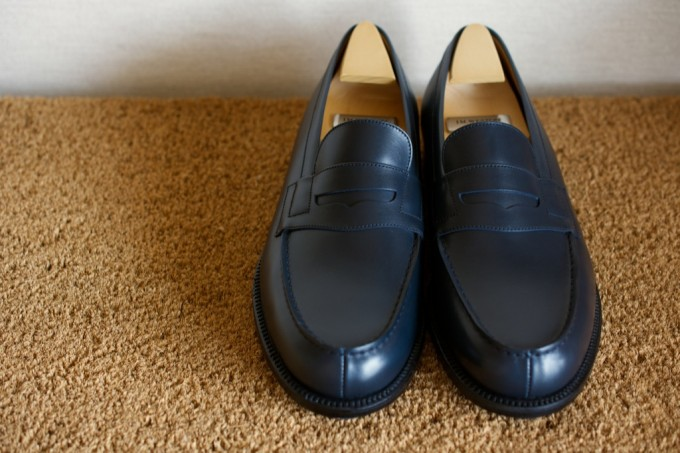 [J.M.WESTON 180 Signature Loafer Bleu BoxCalf]