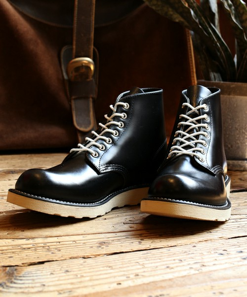 "[Freak's store× Red Wing] Glass leather 6""round toe"