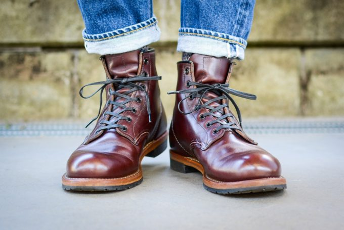 [Red Wing 9011 Beckman boot Blackcherry Feather stone]