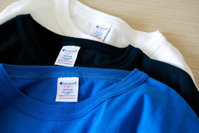 [Champion] T1011 T-shirt with pocket